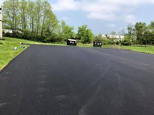 image of parking lot resurfacing