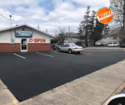 The Process Of Parking Lot Line Painting Quick And Simple
